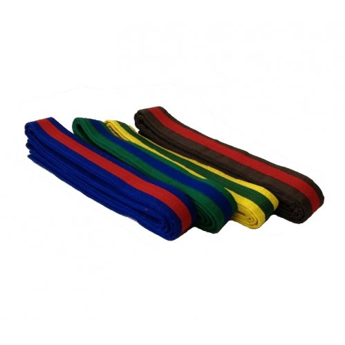 Coloured Belt - Coloured Stripe (Pack of 10)